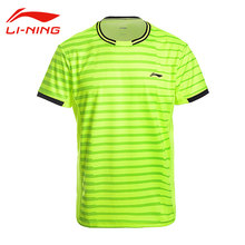Li-Ning Men's Professional Badminton T-Shirts AT DRY Short Sleeves Breathable Tee Li Ning Tennis Shirt LINING Sports Top AAYM143(China)