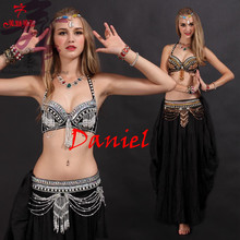 2016 new bollywood dance costumes 2piece(bra+waist sealing) danse orientale silver/gold color sexy belly dance costume free ship