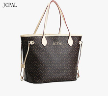 Shoulder bag fashion handbag neverfull with zipper wallet fashion Real oxidation monogram bags portable brief ol handbag print