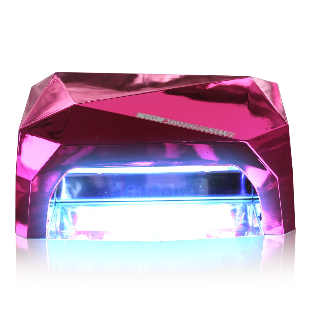 36W LED Lamp 12 W CCFL + 24 W LED Long Life Curing for UV Gel Nail Diamond Shaped LED Lamp for Nail Art 9 Colors<br>