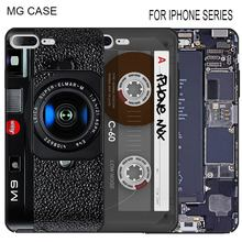Retro tape calculator For Iphone Apple 5 5C 5S 5SE 6 6S 6Splus camera cases for Iphone 7 7plus 8 X mobile phone shell cover bag