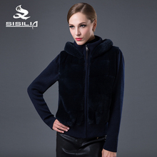 SISILIA 2016 New 100% Real Rex Rabbit Fur Coats Women Winter  Knitted Fur Coat Genuine Fur Jackets Nature Mink Coat For Female