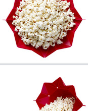 1pcs Microwaveable Popcorn Maker Pop Corn Bowl With Lid Microwave Safe New Kitchen Bakingwares DIY Popcorn Bucket