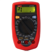 UNI-T UT33C Digital Multimeter DC/AC V/A Cap Frequency Res Diode Tester Manual LCD Meter Ammeter Multitester