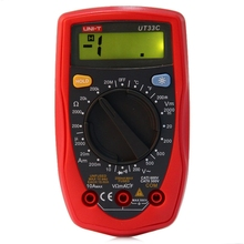 UNI-T UT33C Digital Multimeter DC/AC V/A Cap Frequency Res Diode Tester Manual LCD Meter Ammeter Multitester(China)