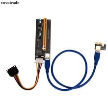vovotrade (USA Respone) 2x PCI-E Express Powered Riser Card W/ USB 3.0 extender Cable 1x to 16x Monero Floppy Power Connector(China)