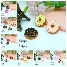 Resin Donuts sets, Resin Flat Back Cabochon for Phone Decoration, DIY,iniature, Crafts Making, Scrapbooking(China)