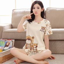 Woman pijama set plus size cartoon pajamas summer short sleeve cute sleepwear young girls pyjama femme M L XL XXL