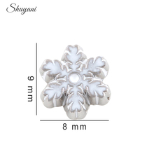 20pcs/lot Newest Alloy Christmas Charms White Snowflake Floating Locket Charms for Living Memory Locket