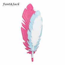 Fant&Jack original products pin brooch men and women manual feather Brooches Women Hats Scarf Suit Brooch Clothes Buckles(China)