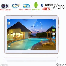 10 inch  laptop Original 3G Phone Call  SIM card Android 5.1 1280x800 Quad Core CE Brand WiFi GPS FM Tablet pc  2GB+16GB
