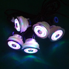 6pcs recessed waterproof RGB LED underwater massage led spa bubble air jet light  with 1manual light controller
