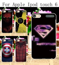 Hard Plastic Mobile Phone Cases For Apple iPod Touch 6 6th touch6 Touch 5 5th 5G touch5 Cover Spider Superman Protective Skin