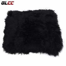 "1x Genuine Sheepskin seat covers Long Wool Car Seat Covers Chair cushion 18"" x 18"" car styling accessories"