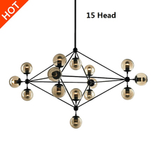 Nordic Jason miller magic Wrought Iron Chandelier For Bedroom E27 220V Kroonluchter Lighting Bar Large Contemporary Chandelier