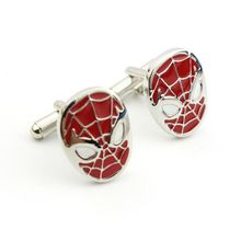 New arrival Fashion Movie red Spider-Man Cuff links vintage Spider Man mask Cuff links Men Women Cufflinks Jewelry gift