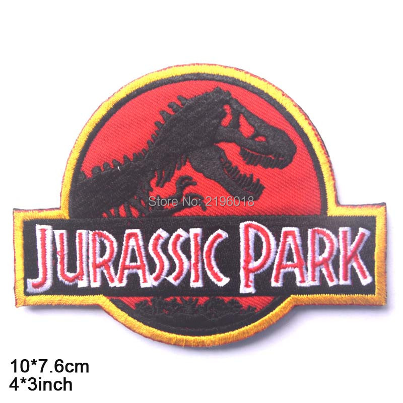 Jurassic-Park-jurassk-Park-sided-Patch-the-tactical-military-patches-badges-for-clothes-clothing-HOOK-LOOP