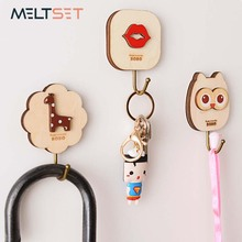 Cartoon Adhesive Wall Door Hook Hanger For Clothes Keys Towel Purse Bag Hook Hanger Decor(China)
