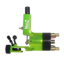 Professional NEDZ Style Rotary tattoo machine Gun Liner Shader U Pick Green for tattoo kit needles grip Supply(China)