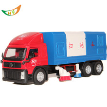 toy factory direct 1: 32 Horse city road sweeper sanitation clean scania truck alloy car model kids brinquedos - HZFZ Good Quality Store store