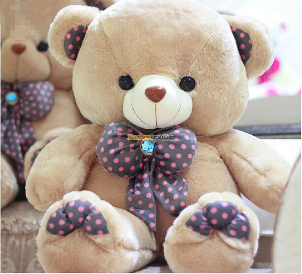 Fancytrader 33 / 85cm Jumbo Stuffed Lovely Soft Plush Bow Tie Teddy Bear Toy, 2 Colors Available, Free Shipping FT50472<br><br>Aliexpress