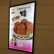 Black Aluminu LED Snap Frame Advertising Lightbox,Ultra Slim High Brightness LED Poster Frames