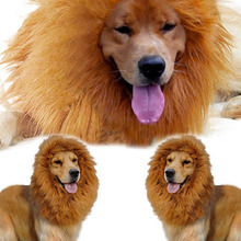 New Pet Costume Lion Mane Wig for Dog Halloween Clothes Festival Fancy Dress Up Dog Clothes Plain Robe Pour Chien Hot Sale(China)