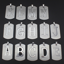 New Women/Men's Jewelry Stainless Steel Couple Letter A B C D E F G H I J K L M N Pendant Short Necklace SS0000  Xmas Gift