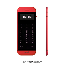 Anica T5 MP3 FM dual sim card bluetooth dialer OLED display touch key sync anti-lost mini credit card cell mobile phone P082(China)