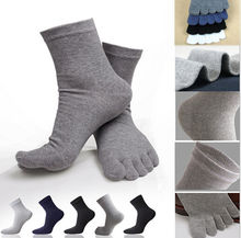 1 Pair Winter Autumn Warm Comfortable Men Women's Guy Five Finger Pure Soft Cotton Toe Socks