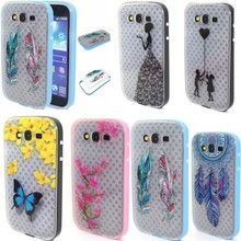 Butterfly Tpu Soft Back Cover+Hard PC Skin Case For Samsung Galaxy Grand Duos I9082&Neo I9060 I9063 Smartphone Case Silicon Skin(China)