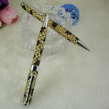 New Creative Leopard Pattern Pen with Crystal for Jewellory Accessories Cute Rhinestone Pen for Student Gift Diamond MB Ball Pen