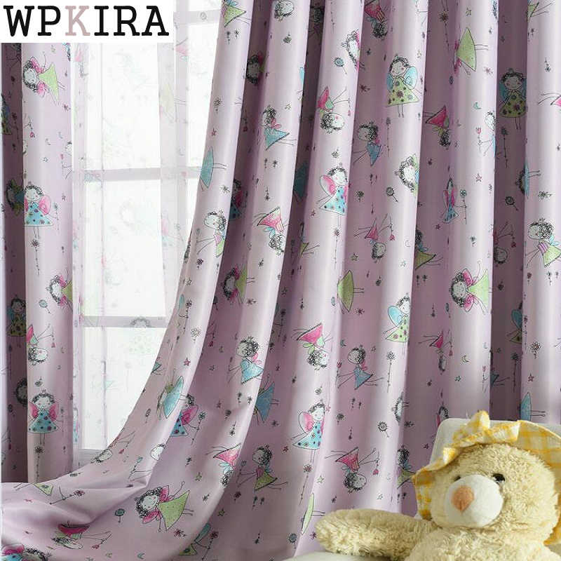 Cute Blackout Curtains For Living Room Bedroom Children Girls Cartoon Window Shade Screens Curtains Kitchen Curtains  S266&30