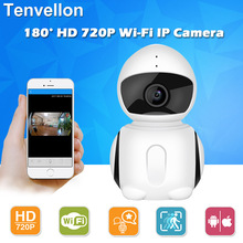 HD 720P Wifi IP Camera Panoramic 180 Degree View Night Vision Mini Wireless Baby Monitor 1.0MP CCTV Smart Security P2P - Global Home Surveillance store