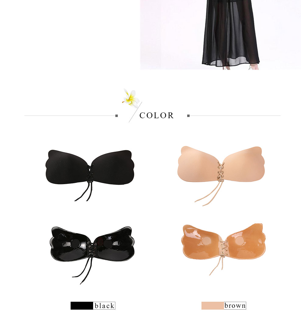 Free Ostrich 18 Women Fly Bra Strapless Bandage Fly Silicone Push Up Invisible Bra Drop Shipping Wholesales 14