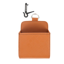 1pc High Quality PU Leather Car Mobile Phone Holder Bag Auto Outlet Air Vent Trash Case Pouch Organizer Hanging Box