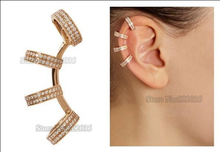 1PCS Excellent Quality Punk Gold Sliver plated  Ear Cuff Clip Earrings Ear Wrap for Women