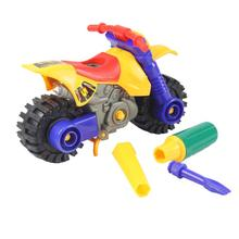 Kids Child Disassembly Assembly Cartoon Motorcycle Toy Christmas Gift Assembly Motorcycle Model Toys for children