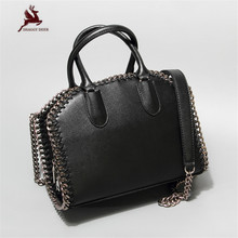 2017 Shaggy Deer Brand Euro Fashion Chain Weave Wrist bag Crossbody Versatile Lady Box Handbag(China)
