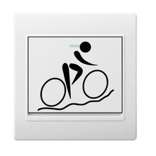 Bicycle Fashion Light Switch Sticker Decoration Vinyl Wall Door Decal 5WS0344