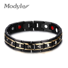 Modyle New Men's Health Bracelets & Bangles Magnetic H Power Stainless Steel Charm Jewelry For Man(China)