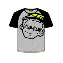 Free shipping 2018 VR46 Valentino Rossi Kids T-shirt fumetto the doctor MotoGP T'Shirt Grey(China)
