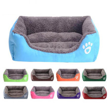 Hot 10 Colors Large Dog Bed Padded Soft Pet Nest House Warm Indoor Dogs Sleeping Kennel Cushion For Cat Puppy S/M/L/XL/XXL/XXXL