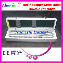E03-3 Advanced Aluminum Retinoscopy Lens Rack Trial Board Lens Set Kit 4 Aluminum Bars Wooden Case Packed Lowest Shipping Costs(China)