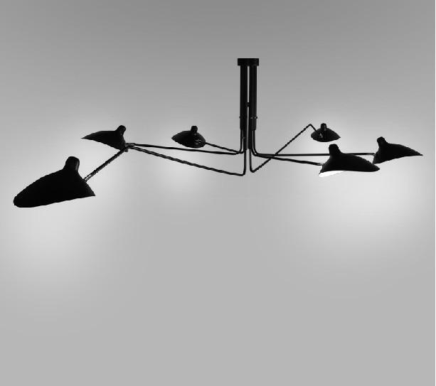 Creative Black New Modern Design Chandelier Lighting Suspension Light Spider Pendant Lamp For