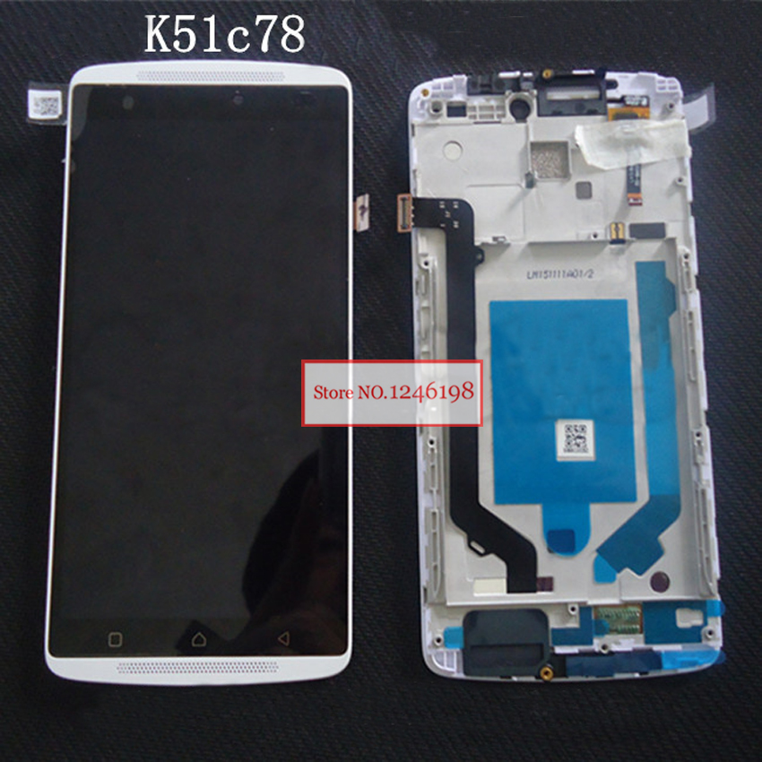 Black White LCD Display Touch Screen Digitizer Assembly with Frame For lenovo Vibe X3 Lite K51c78 X3Lite Phone Replacement Parts<br><br>Aliexpress