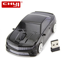 CHYI Car Wireless Mouse 2.4GHz Creative Cool Racing Car Mouse Optical USB Computer Mice 3D 1600 DPI Mause for PC Laptop Desktop