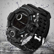 Men Sports Watches S-SHOCK Military Watch Fashion Wristwatches Dive Men's Sport LED Digital Watches Waterproof Relogio Masculino(China)