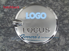 car sticker stainless steel fuel tank cap decorate the sequins for 2005-2011 Ford Focus 2 MK2 hatchback sedan high quality
