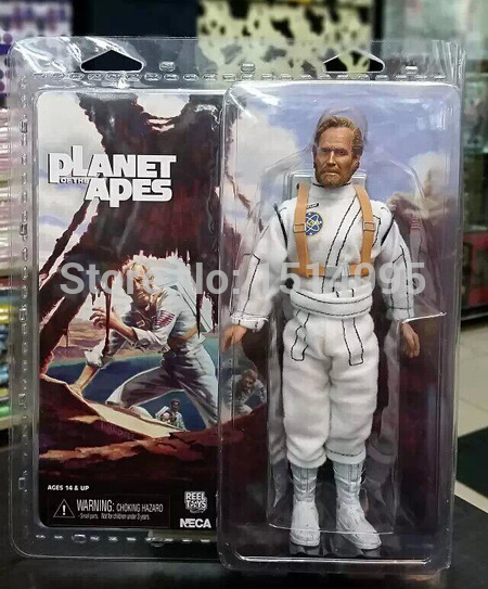 NECA Planet of the Apes George Taylor Clothed PVC Action Figure Collection Model Toy 8 20CM<br>